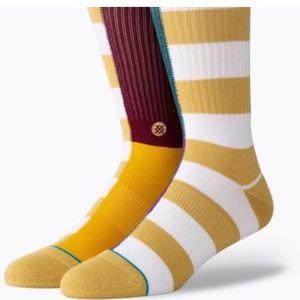 Stance Unisex Split Check Socks - M